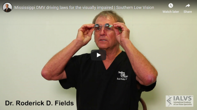Screenshot 2019 03 21 Mississippi DMV driving laws for the visually impaired Southern Low Vision YouTube